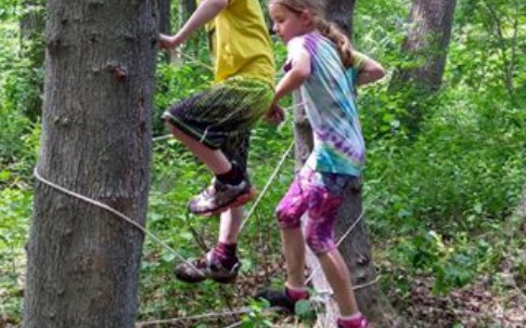 Rope Climb - Nature School Niagara